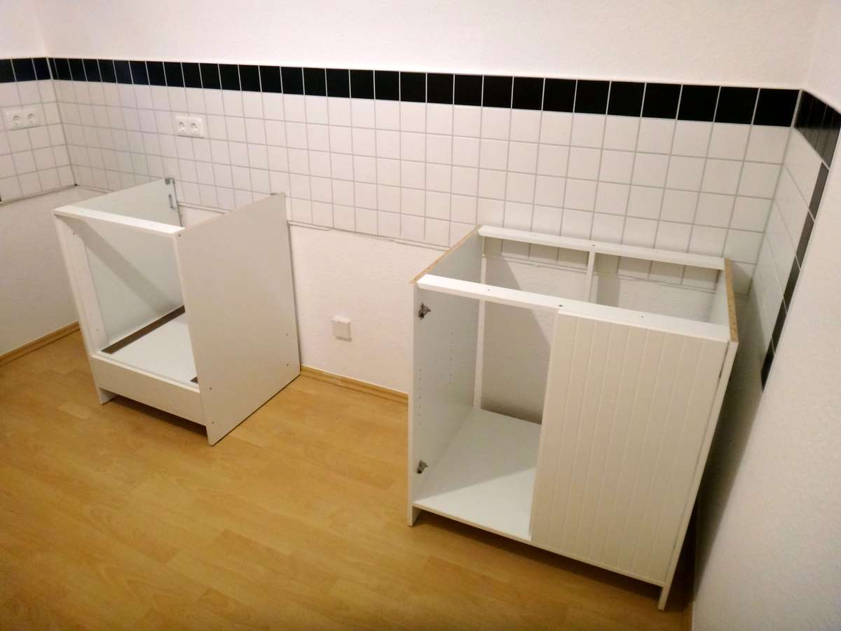 Building our ikea kitchen in germany two small potatoes - Ikea einbaukuche ...